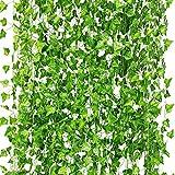 Künstliche Hängepflanzen, Fake Ivy Blätter Girlande Geschenke Party Garten Hochzeit Wand Home Decor 40 Füße 450 Blätter 12 Pcs Ivy