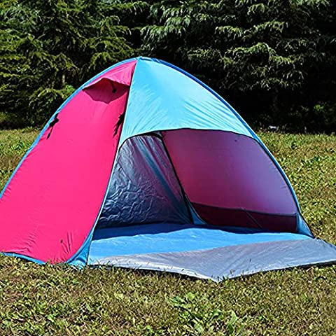 GUMO-Tent, travel tent, children's game house, ultra light, anti UV, fast open, outdoor, 3-4,gules