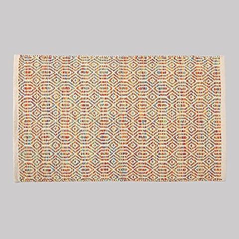 Dormitorio MOREY algodón hecho a mano Colchón puerta Mat puerta de la sala Cama borde del colchón otomanos geométricas simples (color) ( Tamaño : 50*80CM