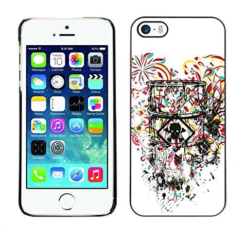 RAJCASE Premium Slim Polycarbonate Aluminium Cassa del telefono Custodia Case Bandiera Cover Armor / Toxic Love Heart / Apple Iphone 5 / 5S