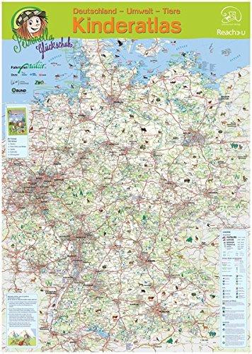 Petronellas Deutschlandkarte: Großformatige kindgerechte Deutschlandkarte mit allen Zoos, Naturparken, Nationalparken, Naturkundemuseen u.v.m. DIN A 1, gefaltet (Bund Gefaltet)