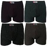 Pesail 4-5-6-9-12er Pack Set Herren Retroshorts Baumwolle BOXER Retro Pants Shorts Unterhose Unterwäsche Gestreift Klassischer Stil Schwarz Blau Grau Gr. M L XL 2XL 3XL 5-9