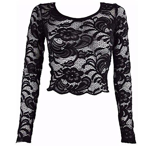 Generic Damen T-Shirt Black Paisley