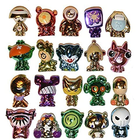 20 Random All Metallic Gogos Crazy Bones in Excellent Used Condition