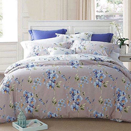 flashing lights- Twill di cotone stampa quattro set di moda Country Style Sheets Filiali Quilt Cover Suite doppio fiore ( dimensioni : 1.8m (6ft) Bed