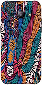 Snoogg vector seamless texture with abstract flowers endless background ethnic sea Hard Back Case Cover Shield ForSamsung Galaxy J1