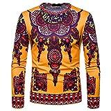 Herren Oberteile,TWBB African Tribal Drucken Sweatshirt Schlank Casual Tops Lange Ärmel Männer O-Neck Hemd