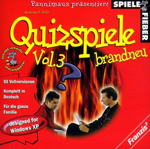 Spielefieber, CD-ROMs : Quizspiele brandneu, 1 CD-ROM 50 deutsche Vollversionen. Für Windows 95/98/ME/XP