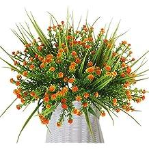MIHOUNION 4 ramilletes al por mayor arreglos de flores artificiales Real Touch sintética de plástico imitación gypsophila flores para boda hogar fiesta oficina Festival tumba decoración