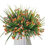 MIHOUNION 4 mazzo di fiori artificiali all' ingrosso composizioni Real touch plastica imitazione finto gypsophila fiori per matrimonio casa ufficio party festival tomba decorazione