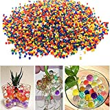 Lumanuby 10000 PCS Bullet Balls Absorbent Balls Pearl Water Crystal Balls For Vase Filler Wedding Flower Gardening Party Glass Decoration Mixed Colors Pack Of 10