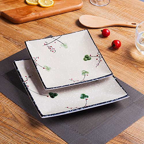 western-plate-flat-plate-steak-plate-set-home-plate-ceramic-hand-painted-underglaze-square-flat-plat