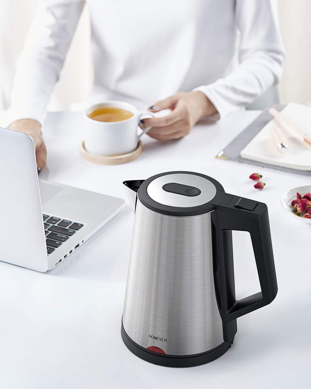 Wasserkocher-Edelstahl-Elektrischer-Wasserkessel-17L-1800W-Auto-off-Trockenlaufschutz-ideal-fr-Kaffee-Tee-Haferflocken-Babynahrung-von-Homever