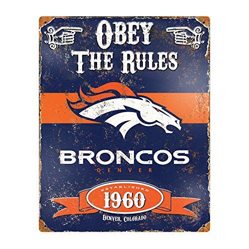 Metall Stahl Workstation (Party Animal NFL geprägt Metall Vintage Pub Signs, Denver Broncos)