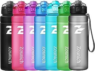 Sport Trinkflasche BPA frei Kunststoff Wasserflasche, Auslaufsicher Geeignet Sporttrinkflaschen 500ml/700ml/1L für Laufen, Yoga, Fahrrad, Kinder Schule, One Handed Open Trinkflaschen mit Filter