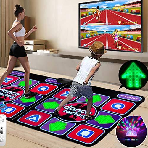 Tanzmatte 3D, Somatosensorische Spielmaschine Massage + Wireless Controller + Bühnenbeleuchtung, TV Computeranschluss, Eine Vielzahl Von Tanzmodi -