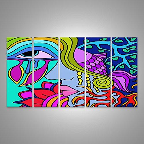 Cuadro Cuadros Impresión sobre lienzo - Formato Grande - Cuadros modernos arte psicodélico