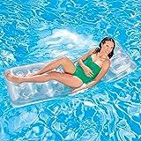 PVC Kreative Schwimmt Transparent Einzigen Wasser Aufblasbare Schwimmende Bett Sonnenbad Strand Einzigen Aufblasbare Kissenreihe (188 CM * 71 CM)