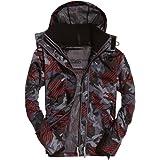 Superdry Men's Hooded Technical Print Pop Zip Windcheat Jacket