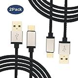 Câble USB C (5 Ft Lot de 2), Extrastar 5V/3A Syncwire Câble USB Type-C en Nylon Tressé Câble Cordon Type C Connecteur Ultra Résistant pour Samsung S8/A3 A5(2017),Huawei,Nexus,Sony,etc