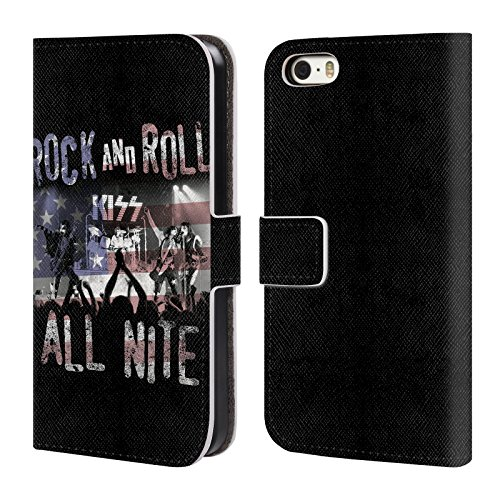 Ufficiale KISS Love Gun Sottotitoli Cover a portafoglio in pelle per Apple iPhone 4 / 4S Shout It Loud!