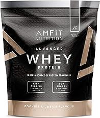 Amazon-Marke: Amfit Nutrition Advanced Whey Protein Eiweißpulver mit Cookies & Cream-Geschmack, 32 Portionen, 992 g