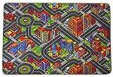Primaflor - Ideen in Textil Kinderteppich Big City - 200cm x 300cm, Schadstoffgeprüft, Anti-Schmutz-Schicht, Auto-Spielteppich für Jungen & Mädchen, Verkehrsteppich Fußbodenheizung Geeignet