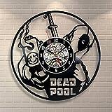 OOFAY Clock@ Wanduhr Aus Vinyl Schallplattenuhr Ninja Der Film Karikatur Logo Design-Uhr Wand-Deko Vintage Familien Zimmer Dekoration Durchmesser 30 Cm