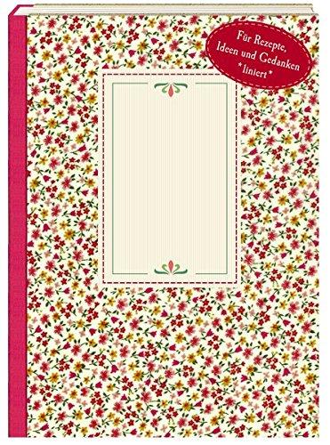 NoteBook - Wachstuch Rote Blümchen -