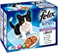 Felix Kitten Fish and Meat Selection 12 x 100 g (Pack of 4, Total 48 Pouches)