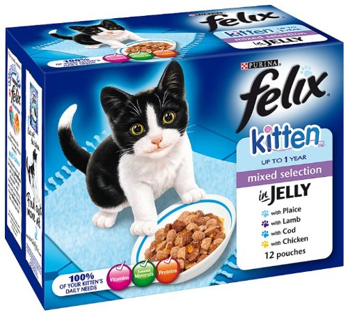 Felix-Kitten-Fish-and-Meat-Selection-12-x-100-g-Pack-of-4-Total-48-Pouches