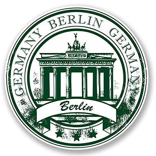 2 x Berlin Vinyl Car Gepäckanhänger Deutschland Fahne Flagge Karte Fun Geschenk#4522