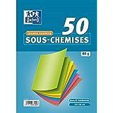 OXFORD Lot de 50 Sous-Chemises 22x31cm Papier 80g Coloris Assortis
