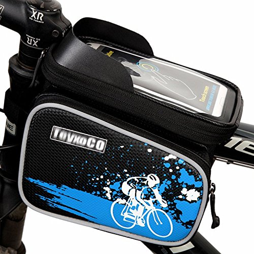 TeyxoCo Outdoor Mountain Bicycle Cycling Frame Front Top PVC Tube Bag Bike Pouch -