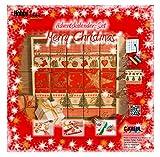 Kreul 49270 - Adventskalender Bastelset Merry Christmas zum Gestalten und Selberfüllen