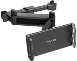 Tryone Support Tablette Voiture - Extensible Support de Tablette de siège de Voiture pour iPad/Samsung Galaxy Tabs/Amazon Kin