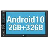 Vanku Android 10 Radio 2 DIN con GPS Navegación, Autoradio Android de Coche Soporte Bluetooth, Control Volante, WiFi, USB, SD