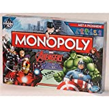 Hasbro Monopoly: Marvel Avengers Edition Game - board games (Multicolour, 6 Avengers tokens, 6 Avengers Superpower cards, 72 location markers, (12 for each Super Hero), 16 S.)