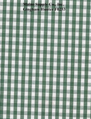 Hunter Green Gingham Check Series F0253 Vinyl Tablecloth 54 x 45' Roll by Nordic Shield (Vinyl Tablecloth Roll)