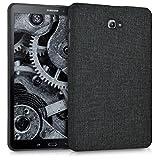 kwmobile Hardcase Stoff Hülle für Samsung Galaxy Tab A 10.1 - Cover Case in Stoff Design Dunkelgrau