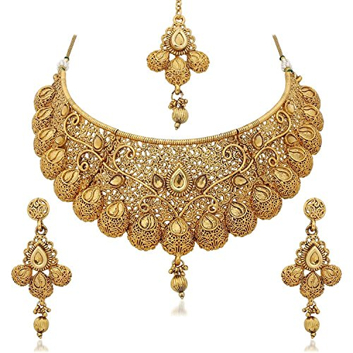 YouBella Fashion Jewellery Gold Plated Combo of Two Traditional