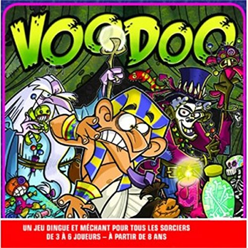Jeu de société VOODOO en Version Française : Un jeu dingue et méchant pour tous les sorciers 8 ans +
