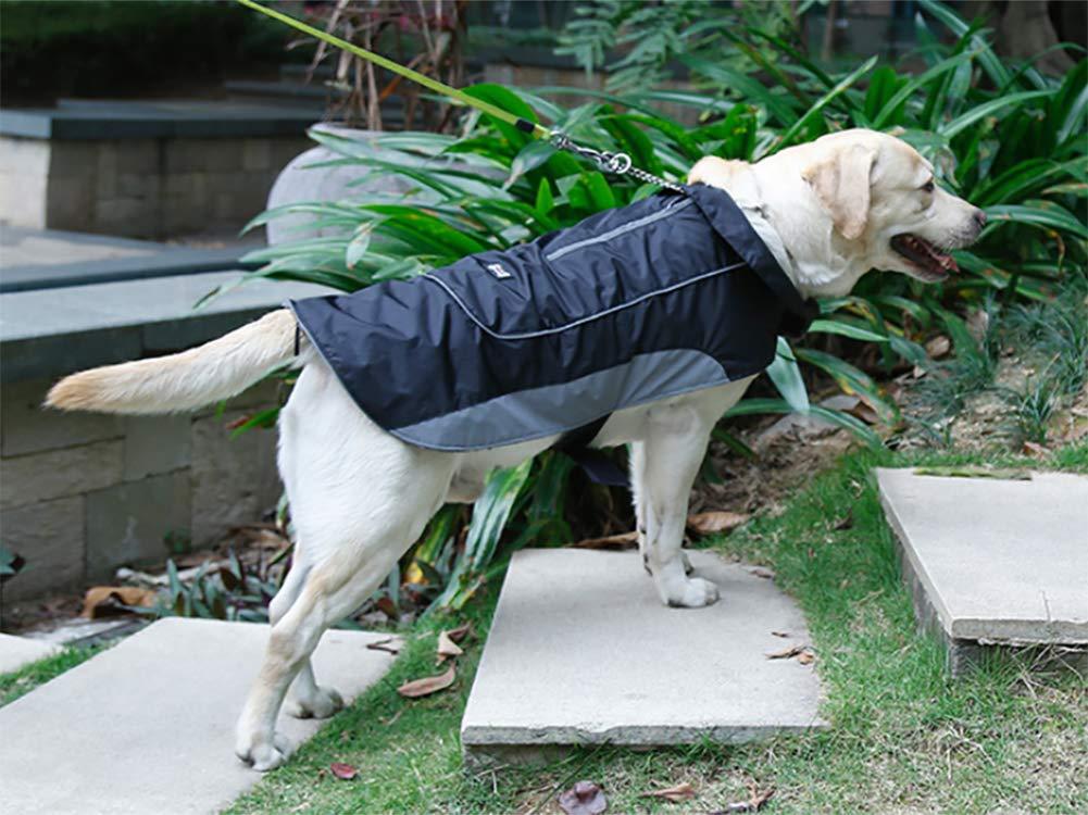 Morezi Premium Outdoor Sport Waterproof Dog Jacket Winter Warm Large Dog Coat with Harness Hole Red 6