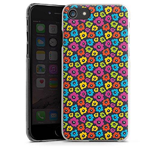 Apple iPhone X Silikon Hülle Case Schutzhülle Blumen Muster Bunt Hard Case transparent