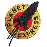 Futurama Planet Express hierro en Sew en bordado parche disfraz T Shirt bolsa chaqueta Insignia