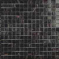 Mosaico de Vidrio en Malla DEC-74291AXU011, Negro, 4 mm, 32.7 x 32.7 cm, Set de 10 Piezas