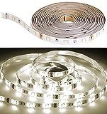 Luminea Zubehör zu LED-Streifen-Komplettset: LED-Streifen LAM-515, 5 m, 1.300 Lumen, warmweiß, dimmbar, IP44 (LED-Farb-Stimmungslicht einfarbig)