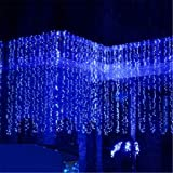 448 LED 10M x 1M interno / esterno del partito di Natale Natale leggiadramente della stringa di cerimonia nuziale / hotel / festival / Ristoranti barriera fotoelettrica 8 modi per Luci di Natale Scelta Decorazione natalizia Capodanno Decorazioni 220V Colore Blu
