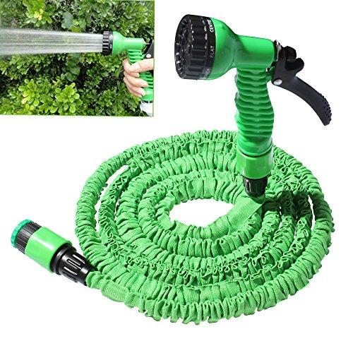 Alice Expanding Gartenschlauch Garten Schlauch Rollen Stretch Bewässerung Wasserschlauch + Sprühpistole Anschluss