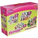 Disney Minnie Mouse - 4 in 1 Konturenpuzzles: 3/6/9/12 Teile